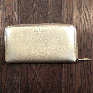 Kate Spade Gold Zip Wallet